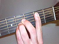 аккорд B (H) на 2 ладу