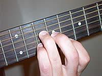 аккорд C6 на 8 ладу
