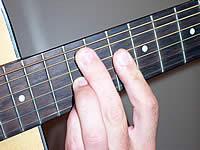 Аппликатура аккорда Am7 на 10 ладу